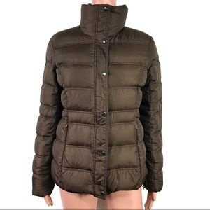 Lands End Brown Padded Winter Jacket Size XSmall